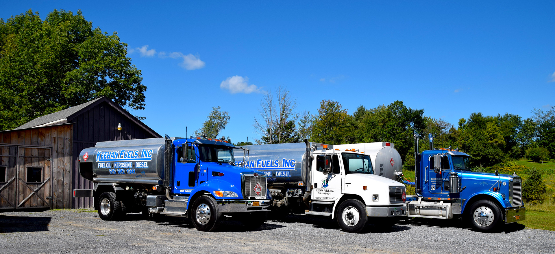 Keehan Fuels, Inc. :: Our Fleet of Home Energy Delivery Trucks in Galway, New York